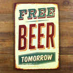 funny metal tin sign for bar pub wall decor , metal wall art bar sign beer