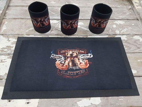 Custom Mini Bar runner & Stubby holder package