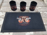 Custom Bar Runner & 5 stubby holder package