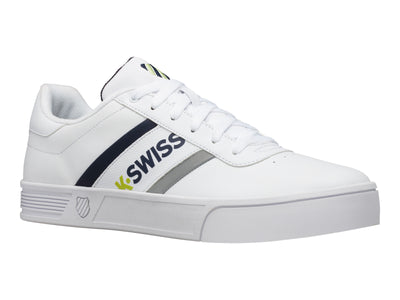 K06147-939 | Men's Court Lite Spellout | White/Navy/Lime Green