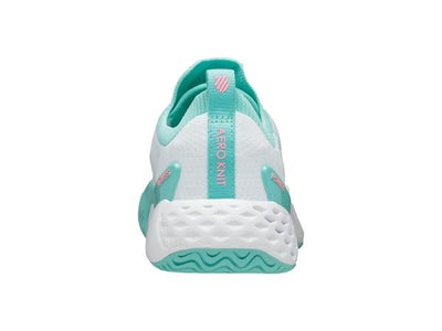 K96137-123 | Women's Aero Knit | White/Aruba Blue/Soft Neon Pink