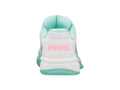 K96613-439 | Women's Hypercourt Express 2 | Aruba Blue/White/Soft Neon Pink