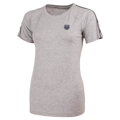 KSW191TS04 | Oberon Cropped Tee | Grey Heather