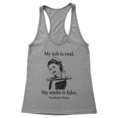 My Job Is Real Women's Racerback Tank