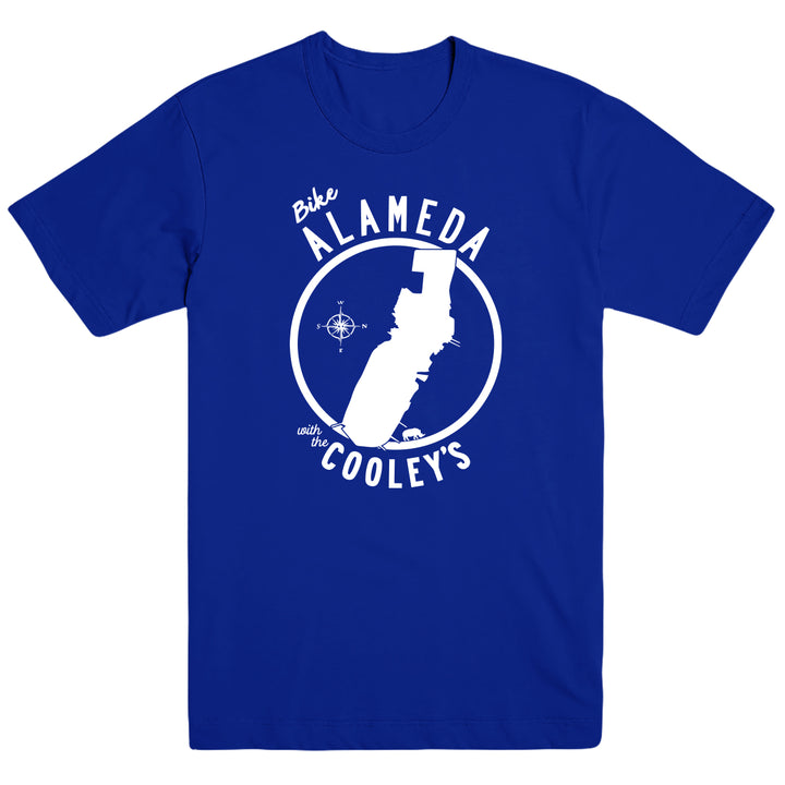 Bike Alameda with the Cooley's T-shirt