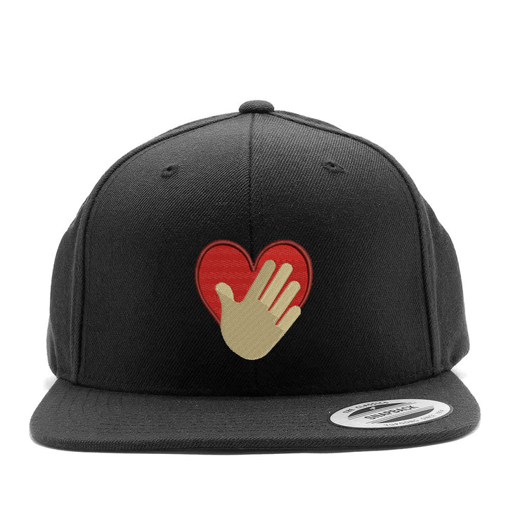 Hand Over Heart Snapback Hat
