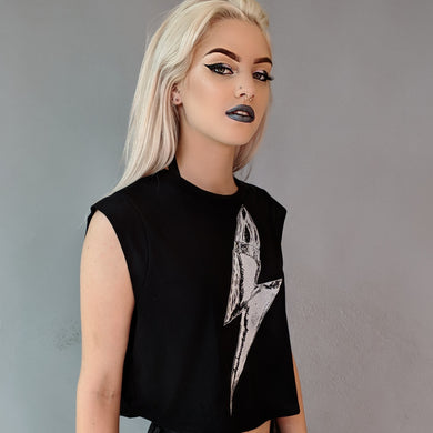 Thunder Kiss Cropped Tee