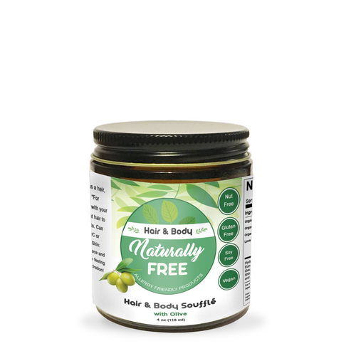 Olive Hair & Body Moisturizer- Allergy Friendly - Naturally Free Inc.