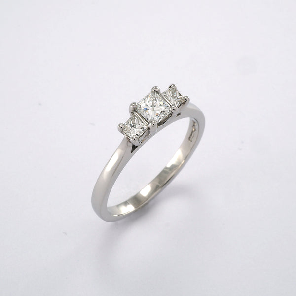 Princess 3 stone 0.50ct