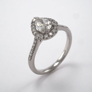 Pear Cluster with Diamond Shoulders - 0.89ct
