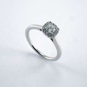 Cushion Halo 0.46ct