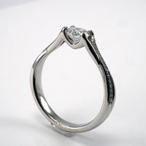 Solitaire with Cross over Diamond Shoulders - 0.57ct