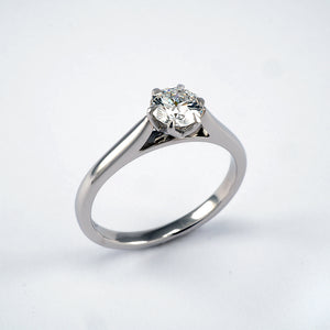 Six claw solitaire 0.50ct