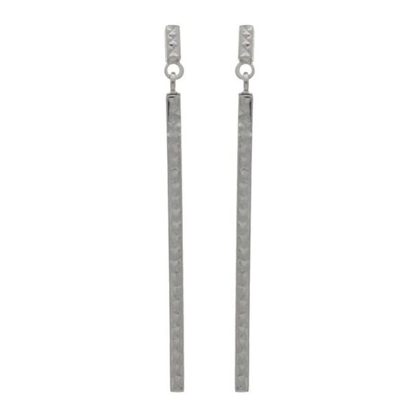 Patterned Bar Drop earrings