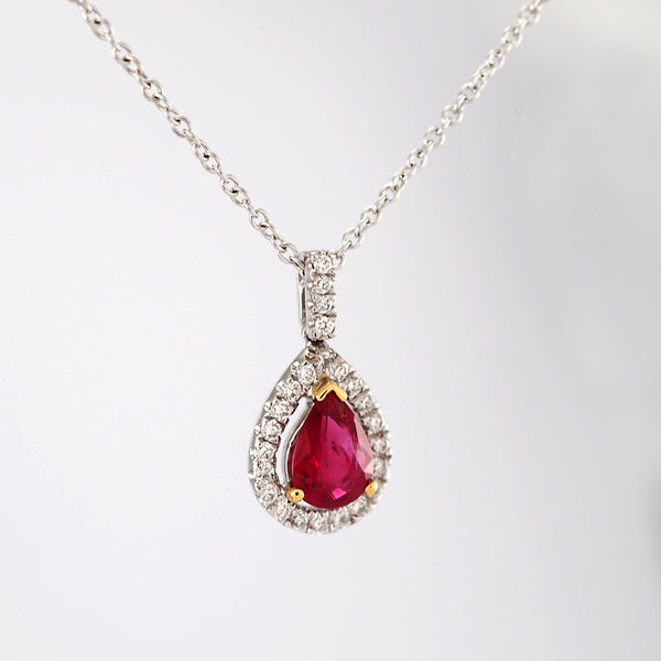 Ruby Cluster Pendant