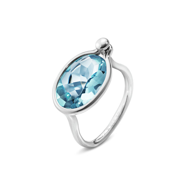 Georg Jensen - Savannah Ring with Blue Topaz