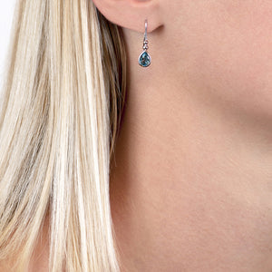 London Road - Blue Topaz Bead Drop Earrings