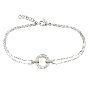 London Road - White Circle Bracelet