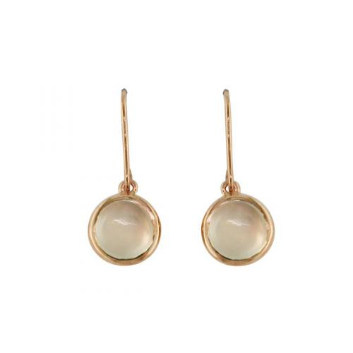 Bubble Moonstone Rose Gold Drop Earrings