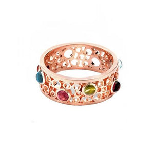 London Road - Bubble Multi Gem Ring