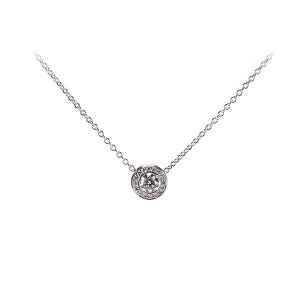 18ct White Gold Diamond Bubbles Slider Pendant