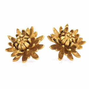 Alex Monroe Chrysanthemum Flower Earrings