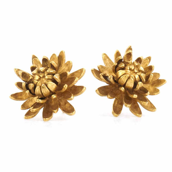 Alex Monroe - Chrysanthemum Flower Earrings