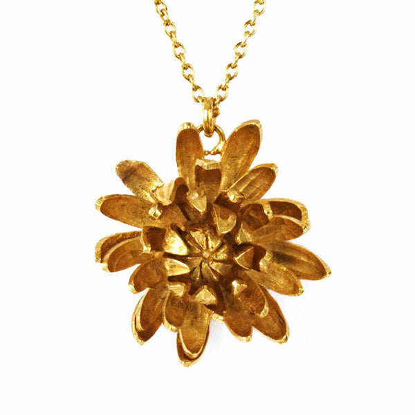 Alex Monroe Chrysanthemum Flower Necklace