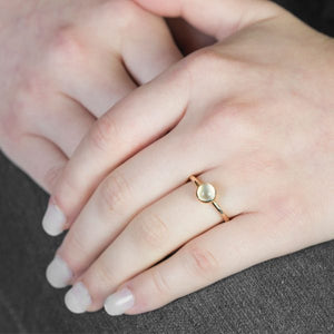 London Road - Rose Gold Moonstone Bubble Ring