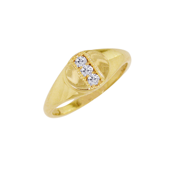 London Road - Diamond Signet Ring