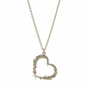 Alex Monroe Delicate Feather Heart Necklace