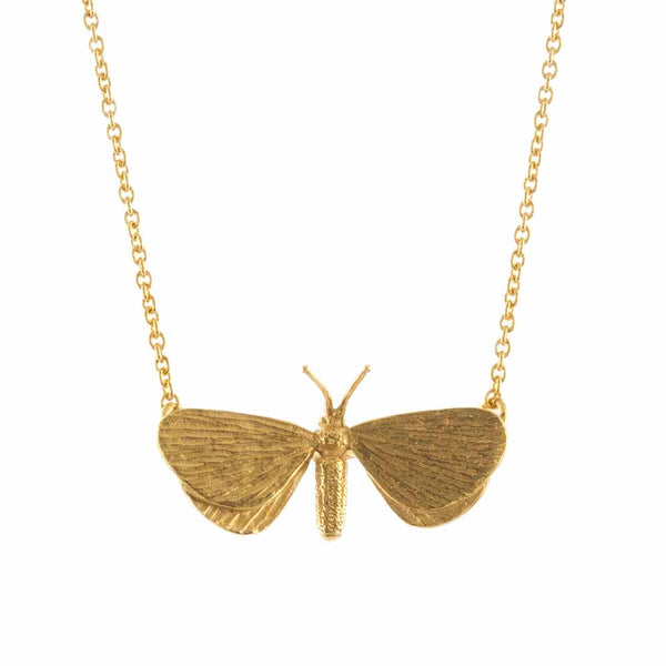 Alex Monroe - Drab Looper Moth Necklace