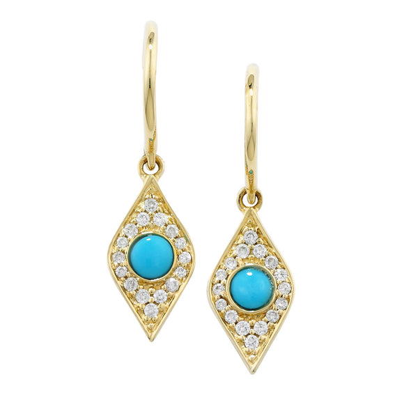 London Road - Turquoise Drop Earrings