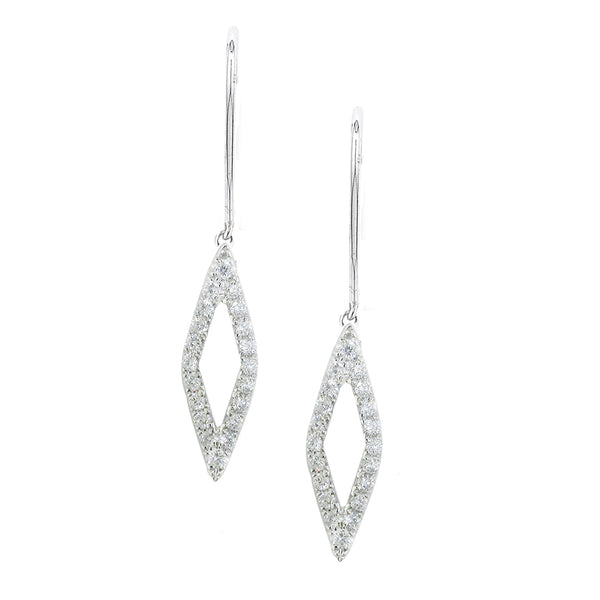 London Road - Diamond Drop Geo Earrings