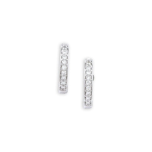 London Road - White Gold Diamond Hoops