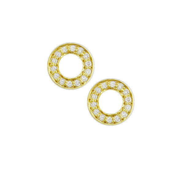 London Road - Yellow Meridian Stud Earrings