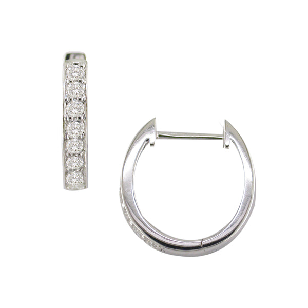 London Road - Diamond Set Hoops