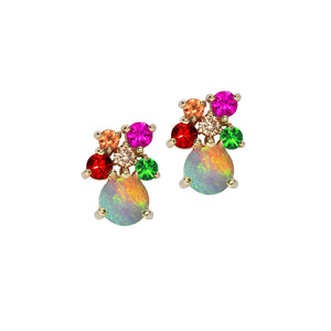 London Road - Multi Gem & Opal Earrings