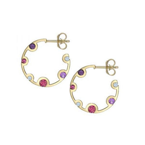 Echo - 18ct Yellow Gold Diamond Hoop Earrings