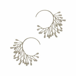 Alex Monroe Fanned Seed Pod Hoop Earrings