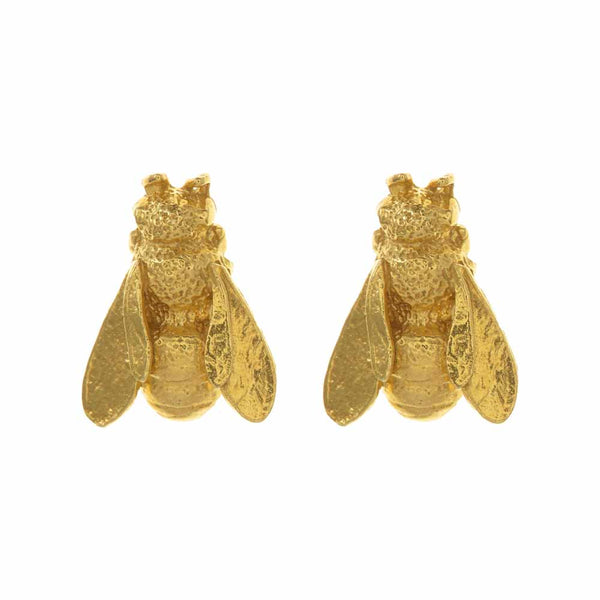 Alex Monroe Honeybee Stud Earrings