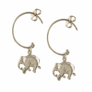 Alex Monroe Indian Elephant Hoop Earrings