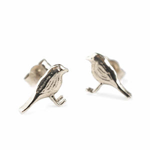 Alex Monroe - Little Robin Stud Earrings
