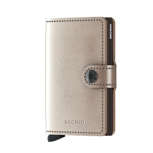 Secrid - Metallic Champagne-Brown Miniwallet