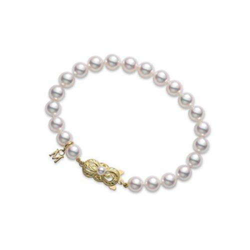 Mikimoto 7mm Strand Bracelet - Yellow Gold Clasp