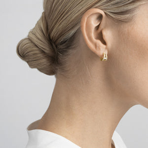 Georg Jensen - Double Pave Halo Ear Hoops