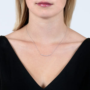 London Road - Diamond Bar Necklace