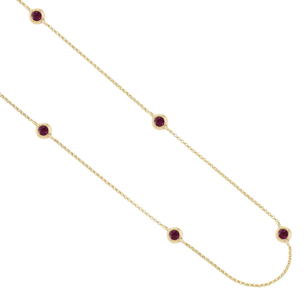 London Road - Ruby Raindrop Necklace