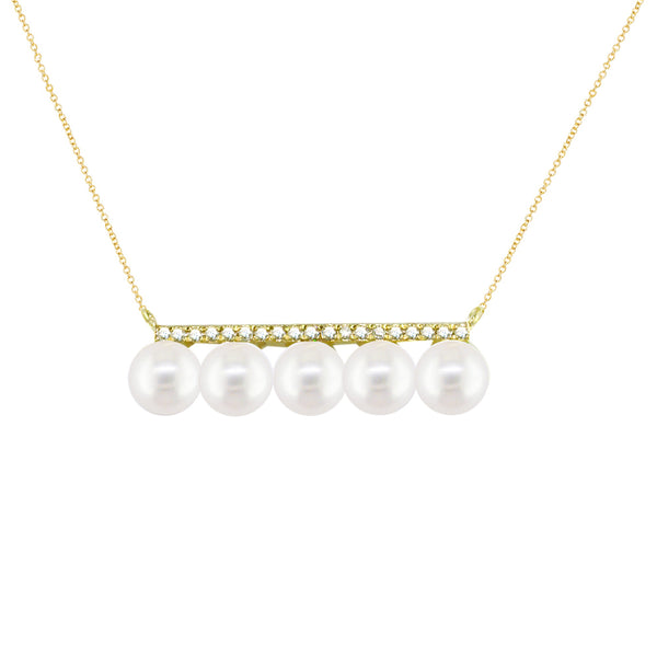 London Road - Pearl Bar Necklace