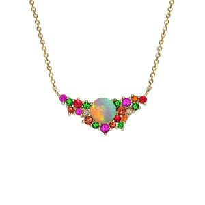 London Road - Multi Gem & Opal Necklace